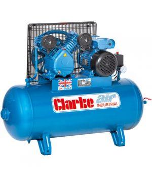 Clarke XEV16/100 (OL) 14cfm 100Litre 3HP Industrial Air Compressor (230v)