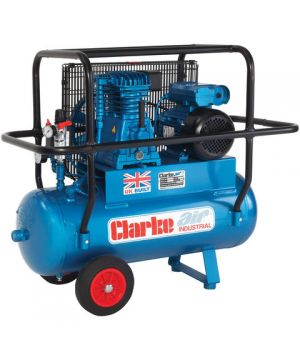 Clarke XEP15H/50 (OL) 14cfm 50Litre 3HP Industrial Air Compressor with Cage (230v)