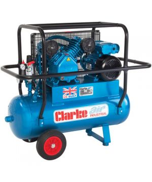 Clarke XEPVH16/50 (OL) 14cfm 50Litre 3HP Portable Industrial Air Compressor with Cage (110v)