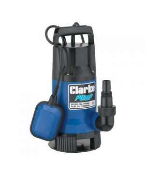 "Clarke PSV4A 1½"" 750W 216Lpm 8m Head Dirty Water Submersible Pump with Float Switch (230v)"