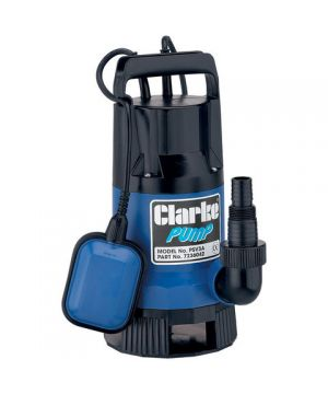 "Clarke PSV3A 1½"" 400W 133Lpm 8m Head Dirty Water Submersible Pump with Float Switch (230v)"