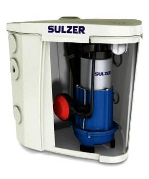 ABS Sulzer Sanimax MF154 HW/KS Under Sink Waste Water Unit - For Hot Water Applications - 10m Cable