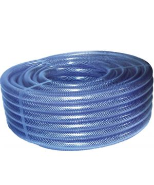 "Reinforced Clear Braided PVC Hose - 2"" (per metre)"