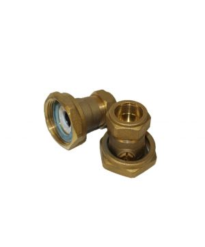Grundfos 22mm Brass Ball Valve - Pair
