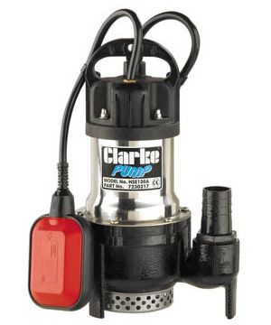 Clarke HSE130A Heavy Duty Submersible Pump - With Float - 230v