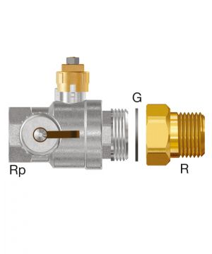 Flamco Ball valve DN 32 - with adapter