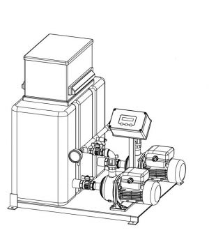 Trebles PH2D High Capacity Digital 2Pump Floor Mounted Pressurisation Unit