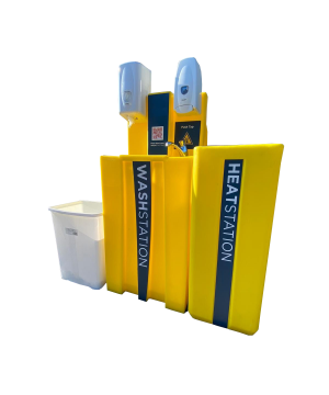 Pedrollo Portable Outdoor Hand Wash WashStation - Hot & Cold Water - Gravity to Drain